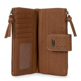 Bifold Quilted Wallet with Snap Closure