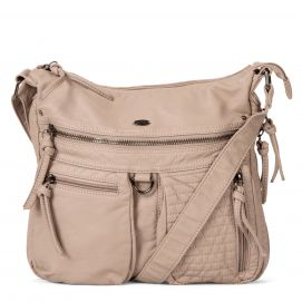 Medium Quilted Expandable Crossbody with Front Pockets