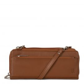 Leather Top Zip Wallet with detachable strap (RFID Blocking)