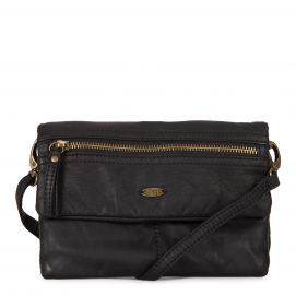 Faux Leather Flap purse with front pocket