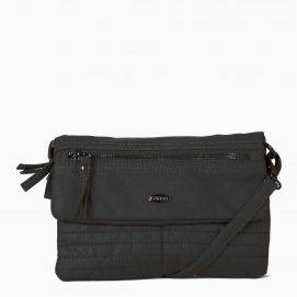 Quilted Front Pocket Purse with detachable strap
