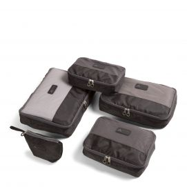 Triforce 5pc Packing Cubes set, Black