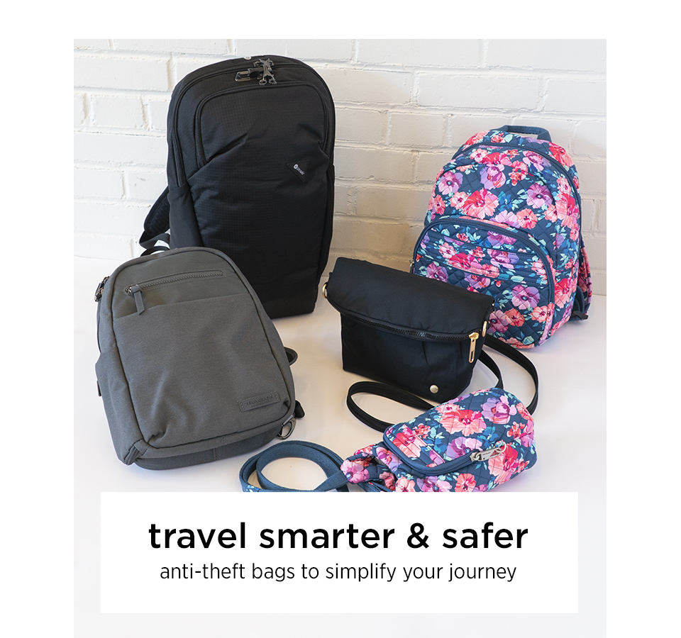 d9dc10fb4 trusted brands including Pacsafe, Travelon and Swiss Gear Shop Travel Bags